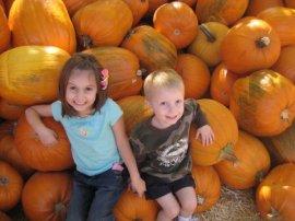 pumpkins and kids